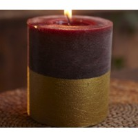 Gold Dipped Pillar - Sandalwood