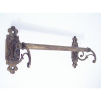 Classic Towel Rail - Single - Antique Brass