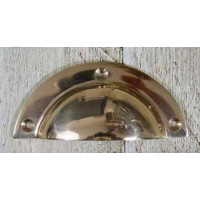 Drawer Pull - Cast Brass - Solid Brass