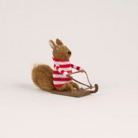 Alpine Squirrel Set  - Felt Decoration