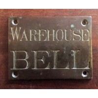 Bronze Sign - WAREHOUSE BELL