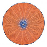 Woven Paper Placemat - Orange Flame & Nanking Blue